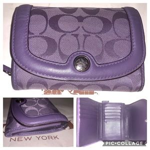 Coach purple wallet